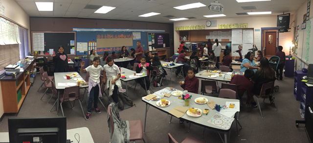 4th Grade Thanksgiving Feast with students and their families!